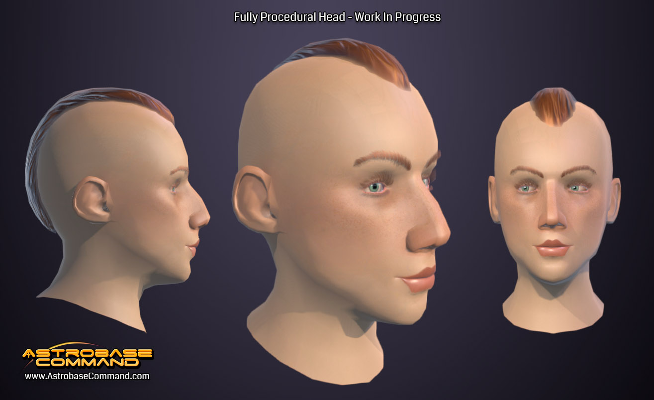 Astrobase Command features procedural face generation – Pre-Alpha Art is Subject to Change